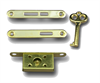 Cast Brass BoxLock 2lever2key