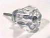 "Glass Knob Clear 1-1/4"""