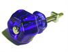 "Glass Knob Cobalt 1-1/4"""
