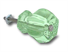 "Glass Knob Coke Green 1-1/4"""
