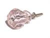 "Glass Knob Pink 1-1/4"""