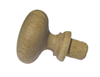 Silky Oak Dowel Knob