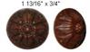 Moulded Rosette -Walnut tone